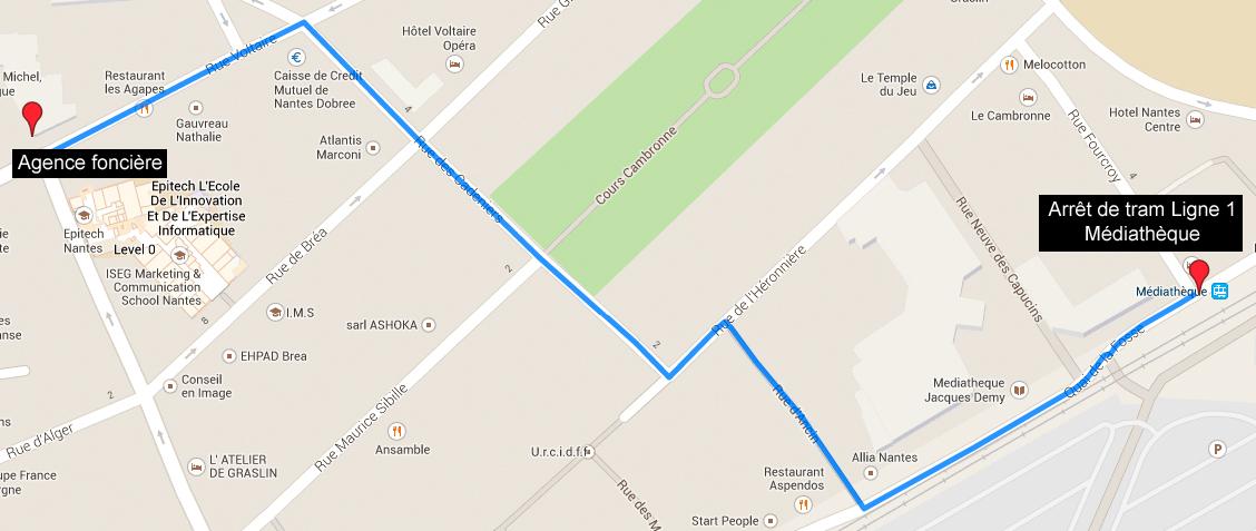 Plan d'accès google map